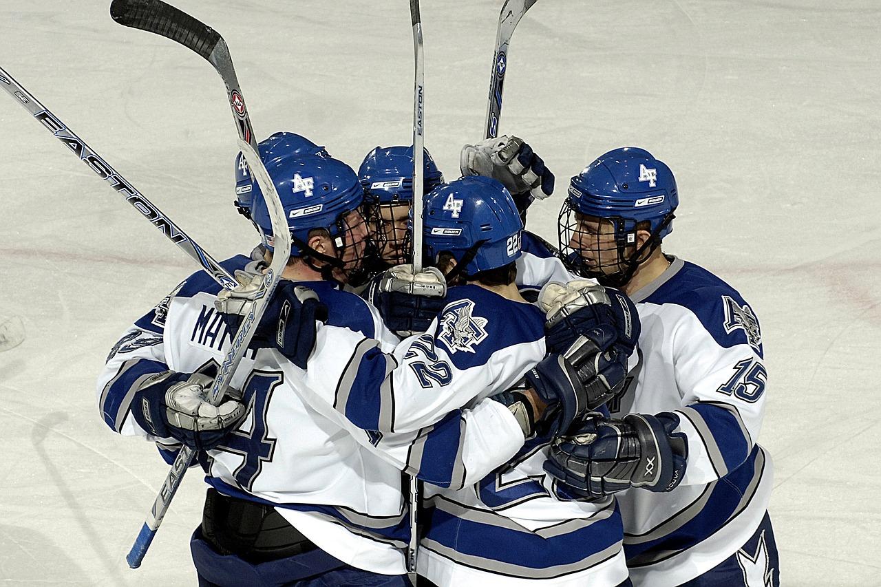 overwinning vieren team ijshockey